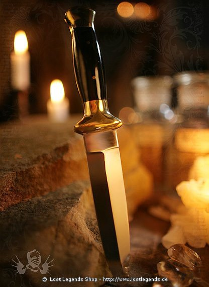Athame Witchcraft Black