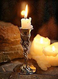 Kerzenhalter Hexe Zinn