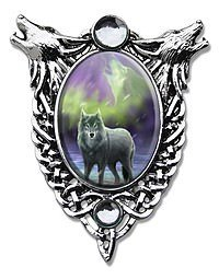 Anne Stokes Cabochons Aura Wolf Cabochon